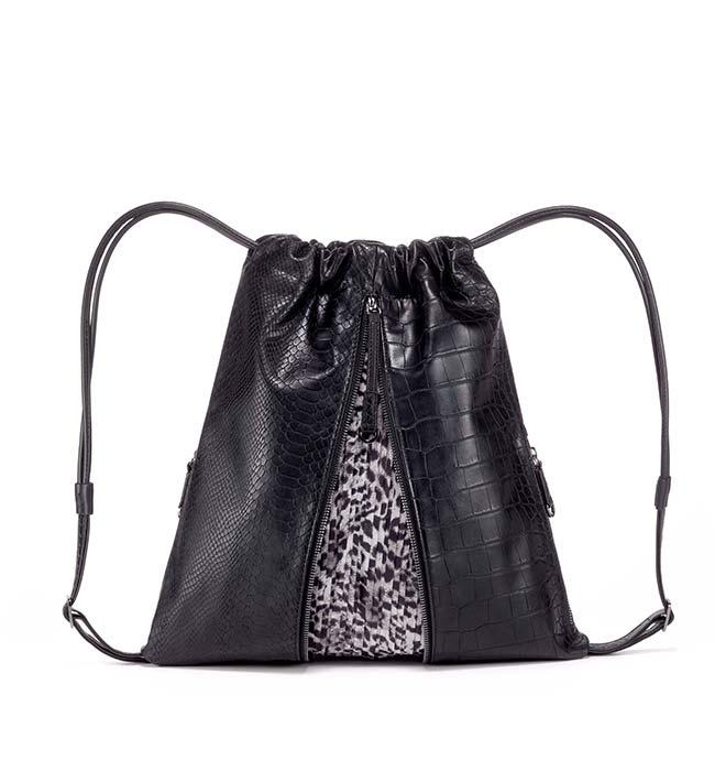 Vegan Leather Drawstring Backpack by FruitenVeg