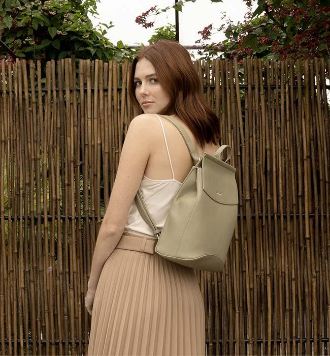 Versatile Vegan Leather Backpack by Pixie Mood