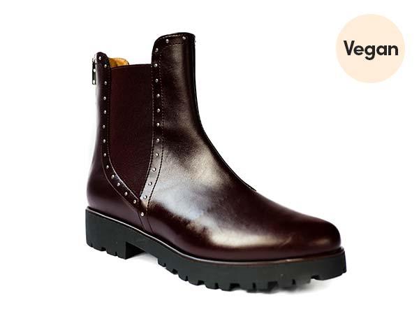 Italian Vegan Leather 'Chelsea Hiker' in Burgundy