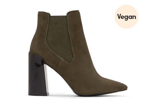 High Block Heel Vegan Chelsea Boots 'Fran'