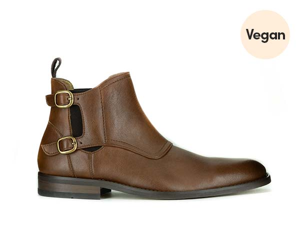 Monk Strap Vegan Chelsea Boots 'Thomas' by Novacas