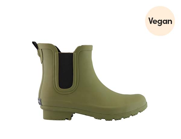Chelsea Matte Olive Rain Boots by ROMA