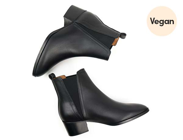 Vegan Leather Point Toe Chelsea Boots