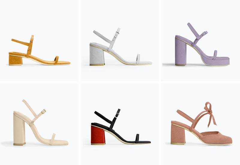 RAFA vegan block heels