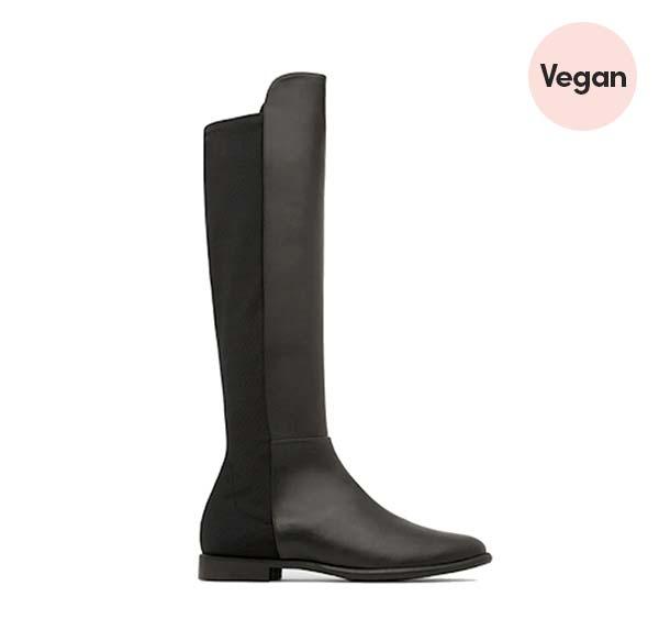 'Nova' Black Vegan Leather Boots by Marzeri