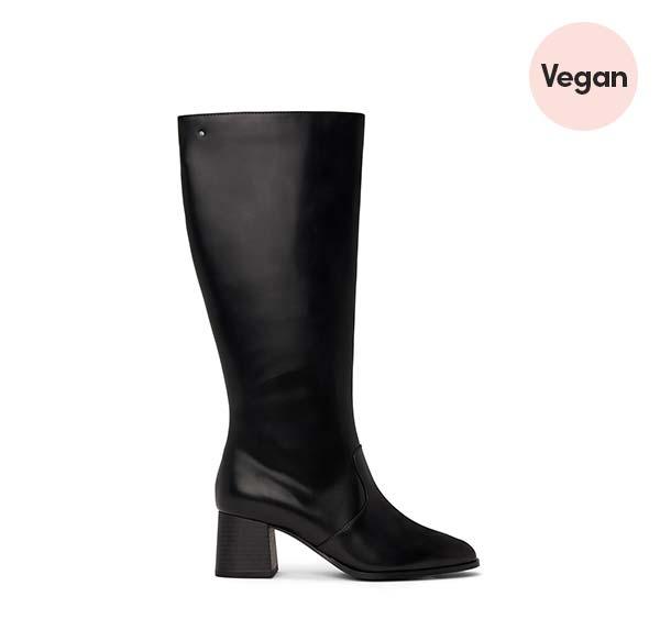 'Livia' Women's Vegan Mid Heel Boots