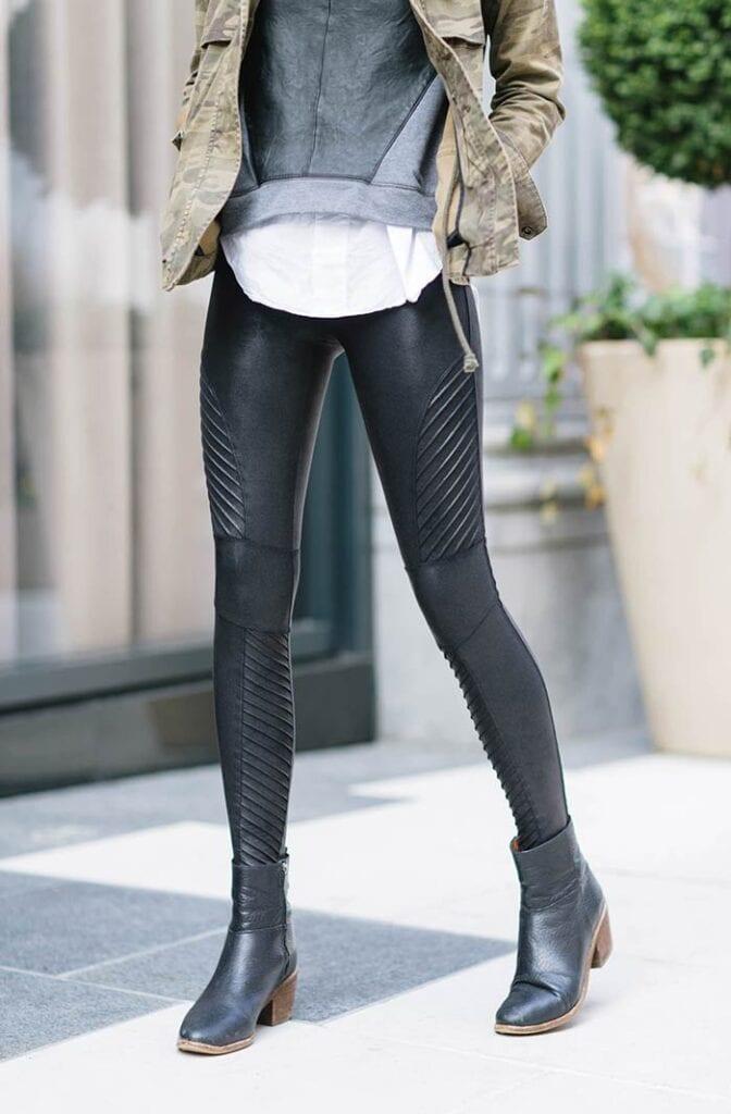Moto Vegan Leather Leggings