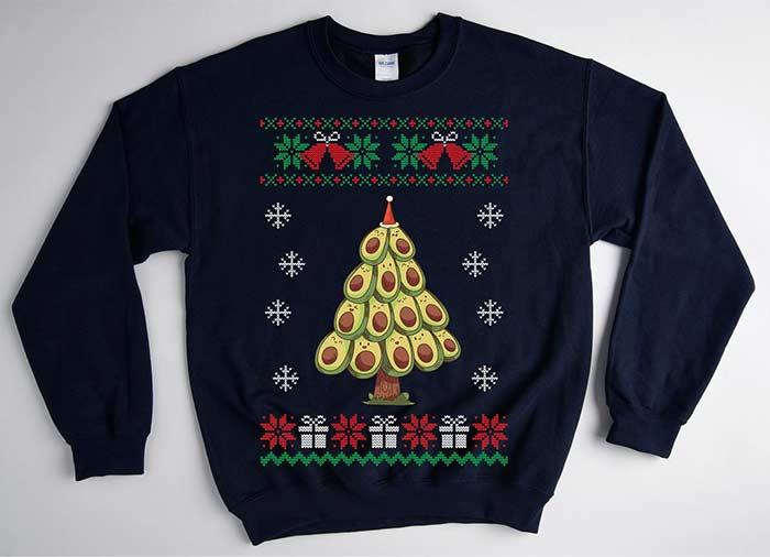 Avocado Christmas Tree Sweater