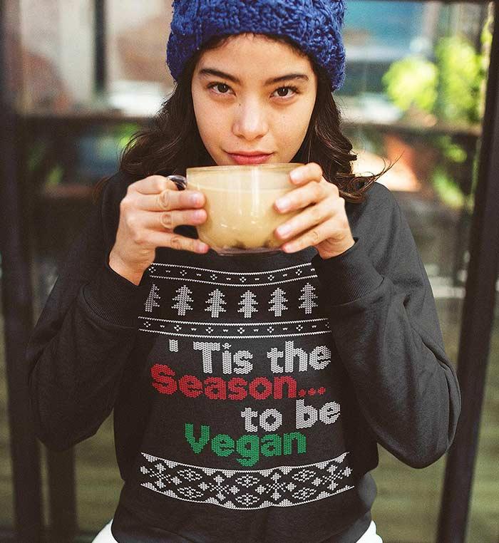'Tis the Season to be Vegan Christmas Sweater