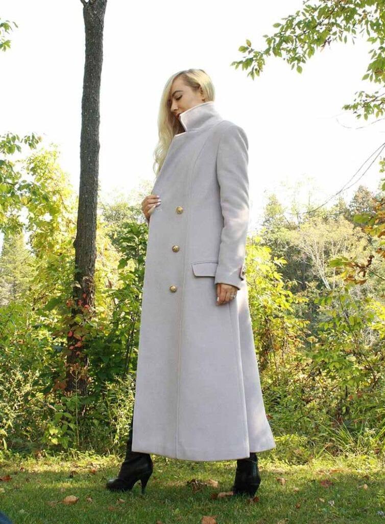 Long vegan wool coat