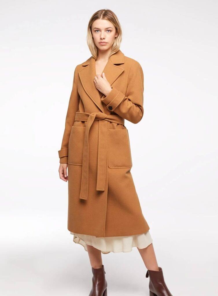 Long sleeve vegan coat