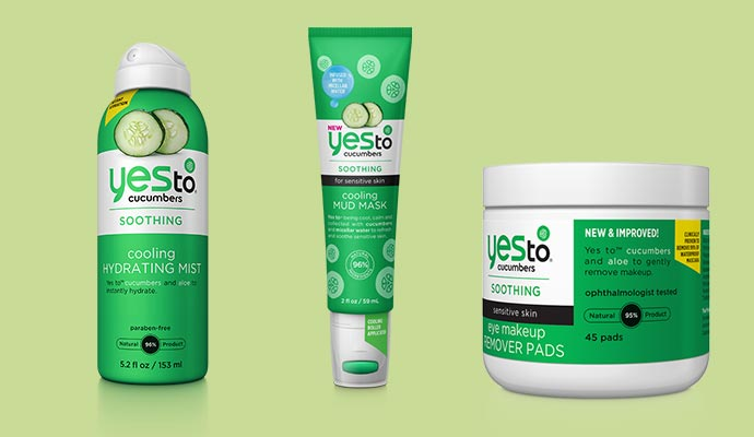 Yes to Cucumber - Vegan Product List