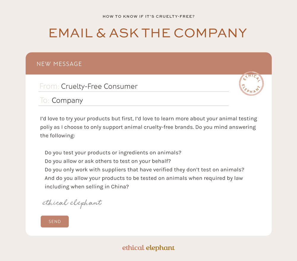 How to know if it's cruelty-free? Email and ask the company.