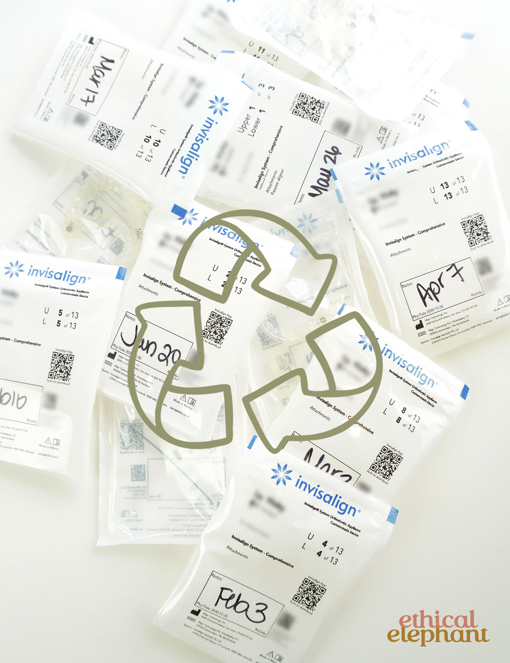 Are Invisalign aligners and bags recyclable?