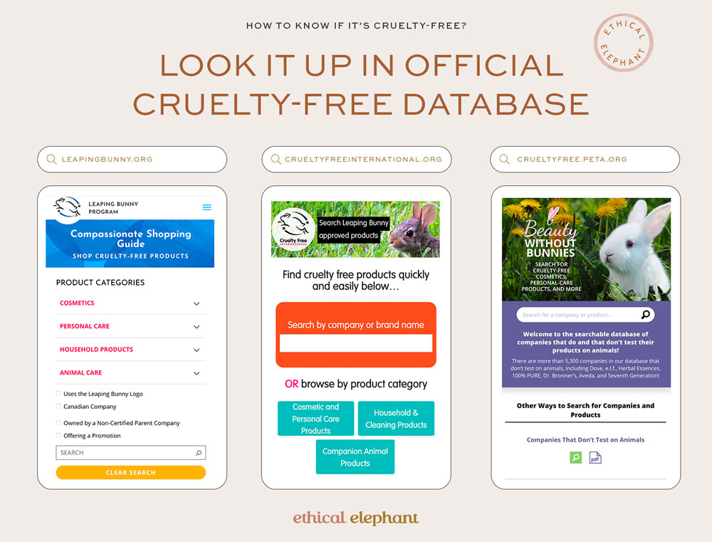 How to know if it's cruelty-free? Look up the brand in an official cruelty-free database