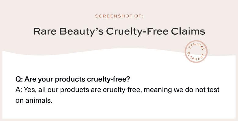 Rare Beauty Cruelty-Free Claims