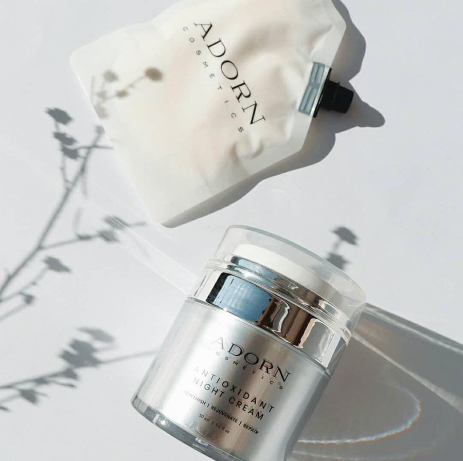 Adorn refillable skincare products