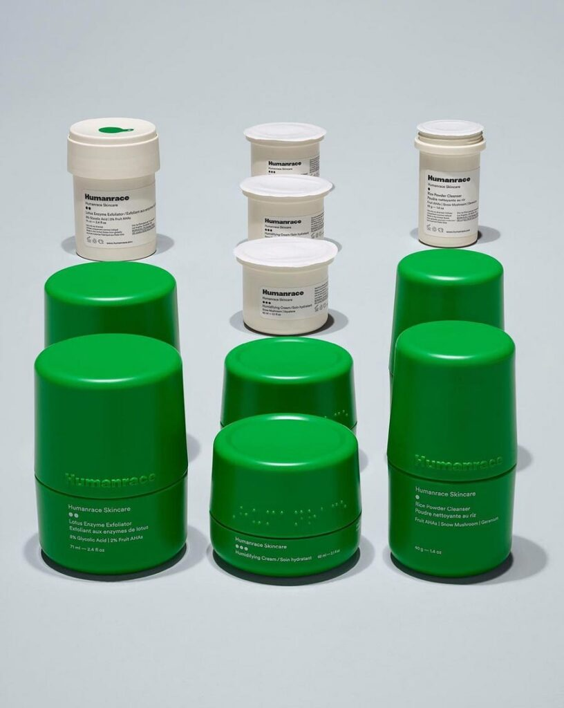Humanrace  refillable skincare products