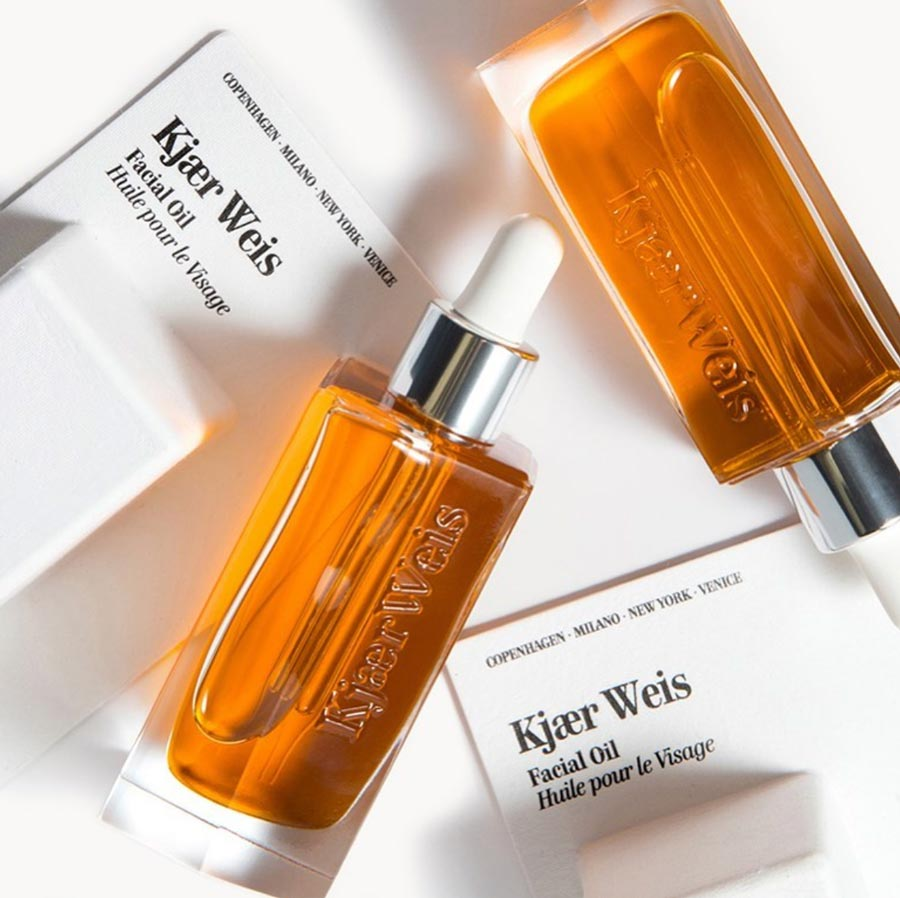Kjaer Weis refillable skincare products