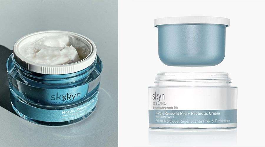 Skyn Iceland refillable jar and refill pod