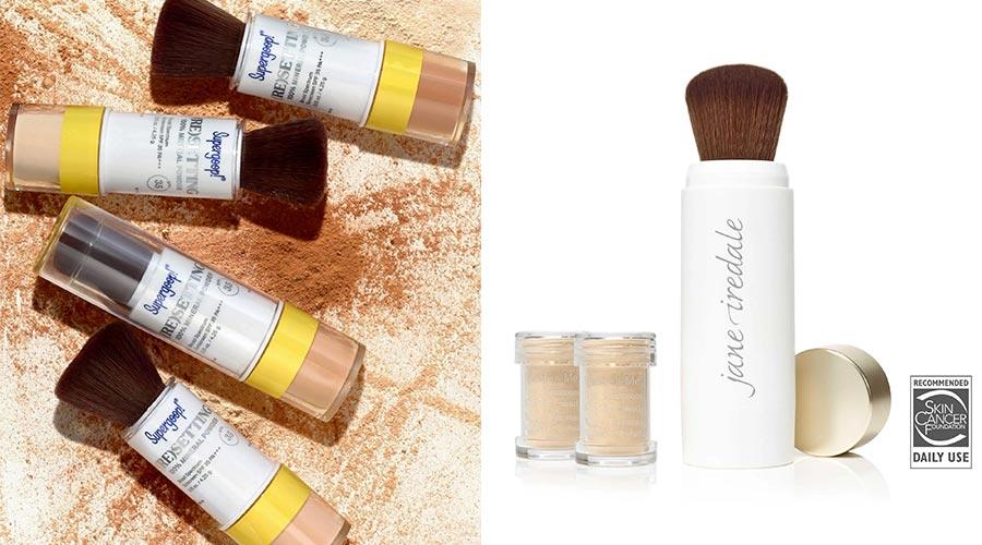 Supergoop and Jane Iredale Refill Sunscreen Powder Brush