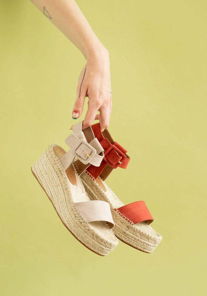 """Mireia Playa's Vegan Jen Suede Sandals featuring a 2.75"""" heel"""