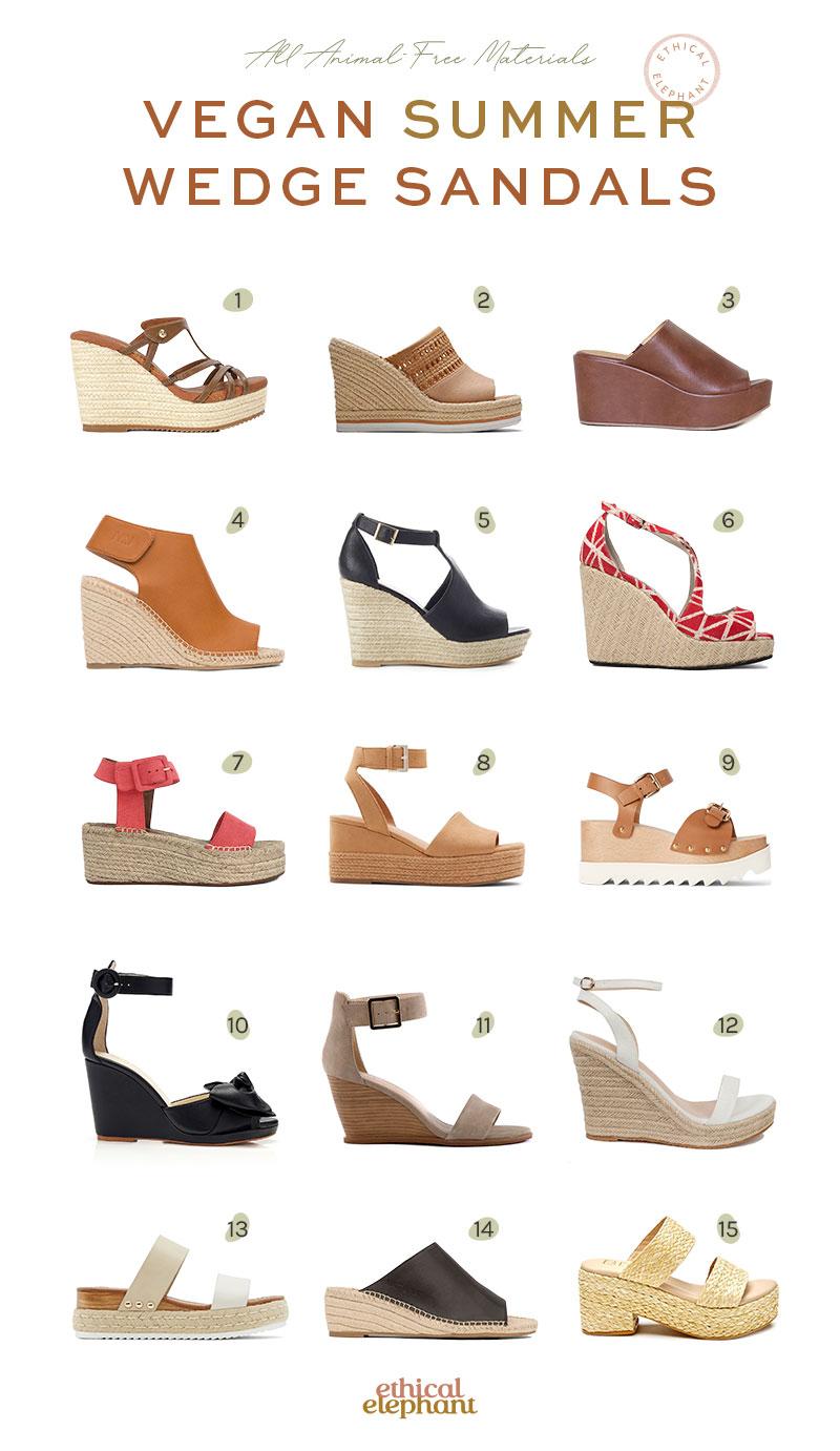 Vegan Wedge Sandals for Summer