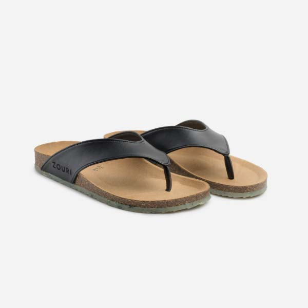 Zouri's Ocean - Black Apple Leather