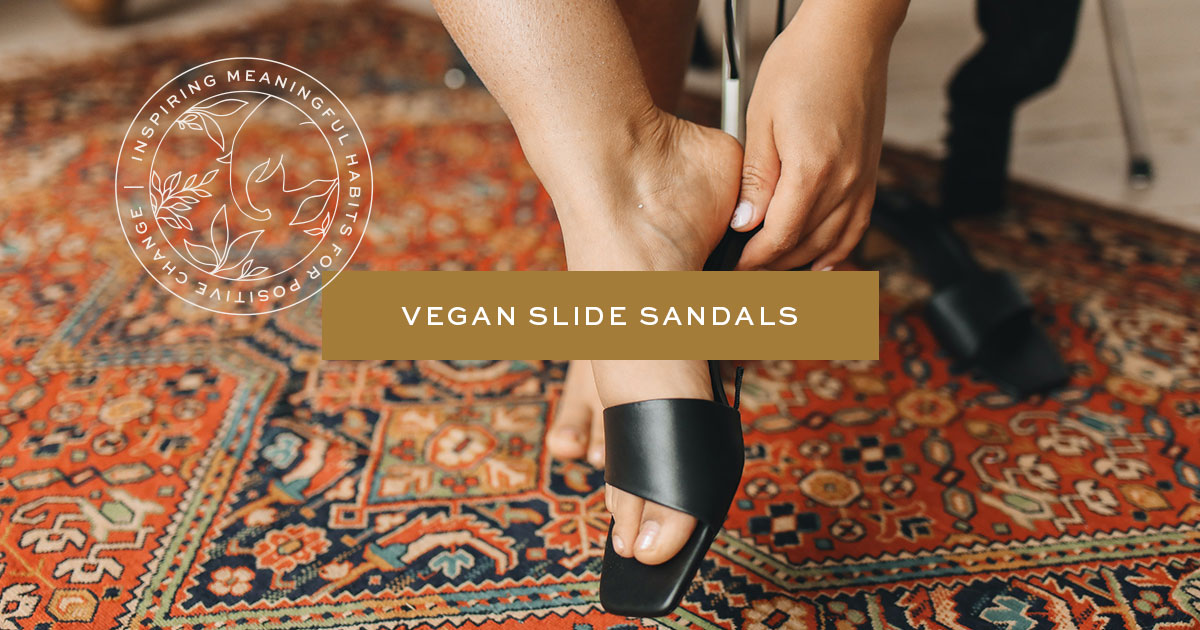Vegan Slide Sandals