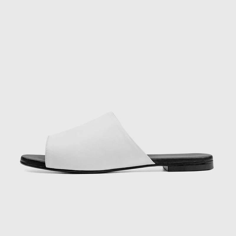 Vegea® grape leather slides shoes by Bohema