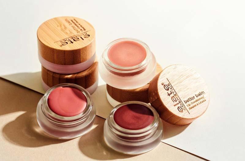 Elate Cosmetics multi-tasking tinted zero-waste lip conditioner balms
