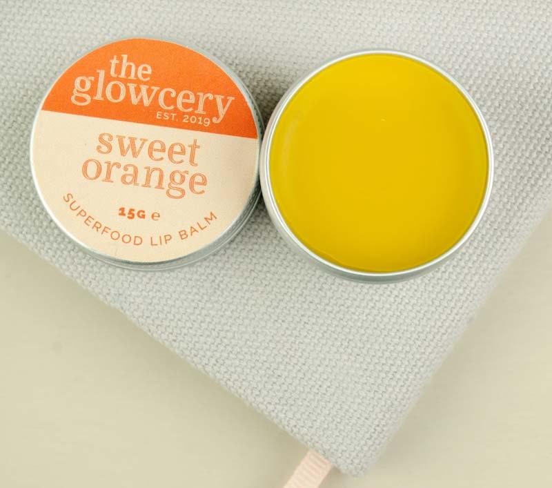 The Glowcery Sweet Orange Superfood Lip Balm